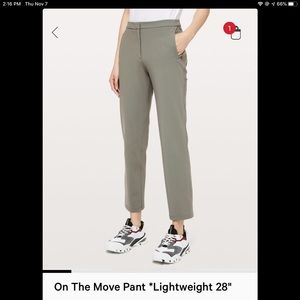 """Lululemon On the Move 28"""" pant"""
